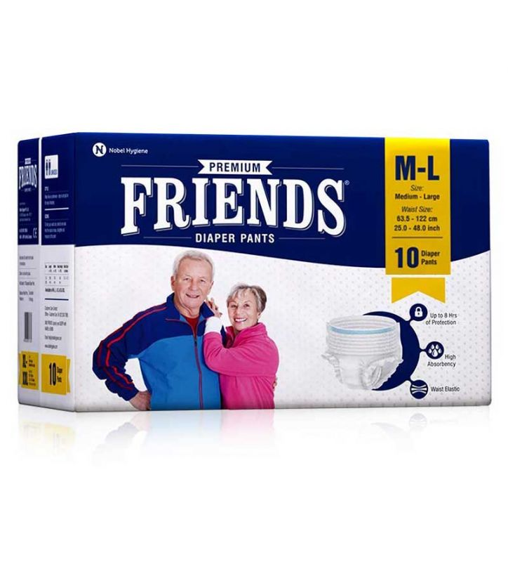Friends Adult Diapers Pull-Ups L