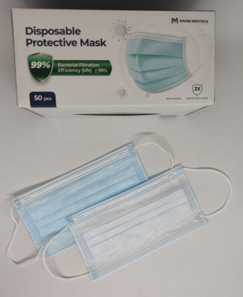 03 Ply Surgical Face Mask - 50pcBox