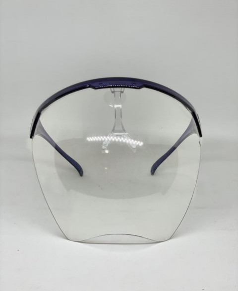 ADULT ISOLATION GLASS FACE SHIELD - Blue