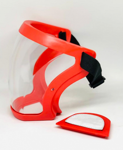 HYBRID RESPIRATOR ACTIVE FACE SHIELD - RED- FILTER