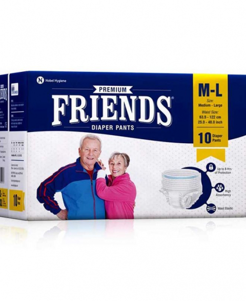 Friends Adult Diapers Pull-Ups M