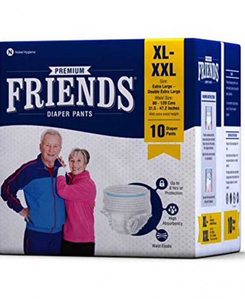 Friends Adult Diapers Pull-Ups XL