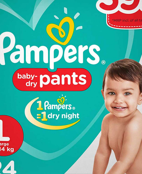 Pampers Pants Large 24s