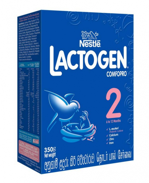 Nestlé LACTOGEN COMFOPRO 2 Follow Up Formula with Iron – 6 to 12 months, 350g Bag in Box Pack