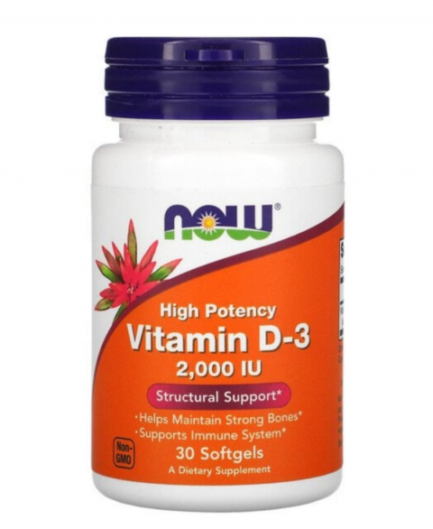 NOW VITAMIN D3 (2000iu)