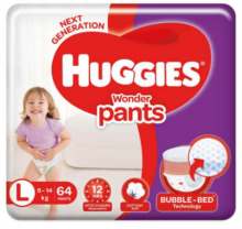 Huggies Wonder Pants Size L 64 Pcs Pack